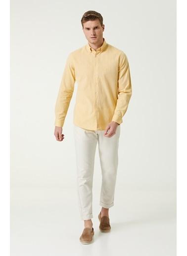 NetWork 1079843 Erkek Slim Fit Gömlek Sarı
